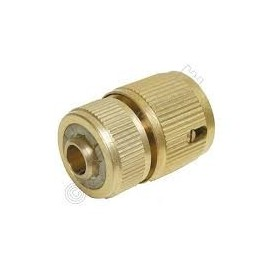 "Hoz Loc Quick Connector Brass Auto Stop 1/2"" hose pipe"