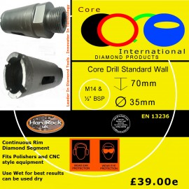 CORE DRILL 35 D STD WALL GRANITE CROWNED
