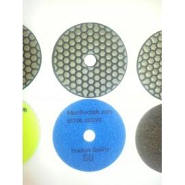 Dry Ceramica diamant tampons de polissage 50 Grit Seulement