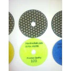 Dry Ceramica diamant tampons de polissage 100 Grit Seulement