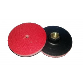 100mm Dia Plastic with FOAM velcro backing holder M14