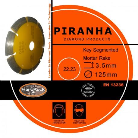 "125mm 5"" SEG Mortar Cutting Rakes Amber Bond Diamond Product"