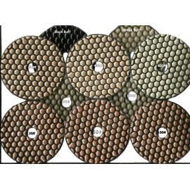 Mixed Set 10 Pads Dry Diamant Polierpads 100mm D Klettverschluss gesichert