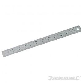 Faithfull RULE300SS Steel Rule 300mm/12in X 25mm