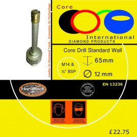 CORE DRILL 12 D STD WALL GRANITE CROWNED
