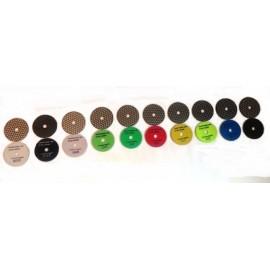 13 Dry Ceramica Diamant Polierscheiben beliebtes Set 13 100mm D Klettverschluss gesichert
