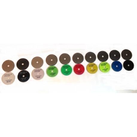 13 Dry Ceramica Diamond Polishing pads popular set 13