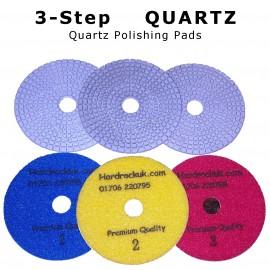 Paquetes de pulido de diamante húmedo / seco de 3 pasos de cuarzo completo 3-100D