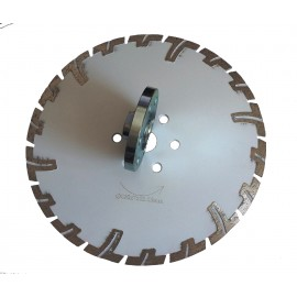 "230mm D 9"" white rhino prianha diamond blade 22 23 centre & 6x flange holes"