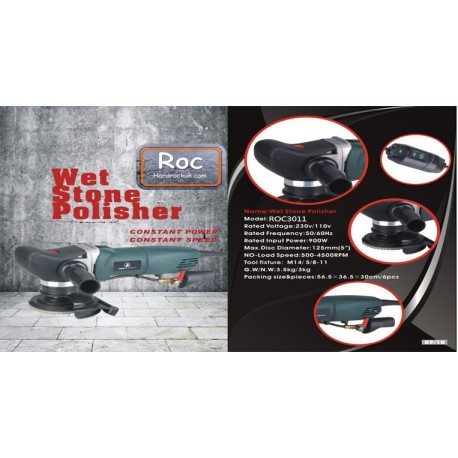 """Roc Quicki 5"""" 125mm variable speed wet stone polisher 110volts"""