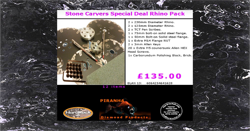 Stone Carvers Special Deal on Rhino Pack