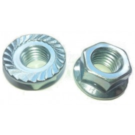 M14 std FLANGED NUT BZP