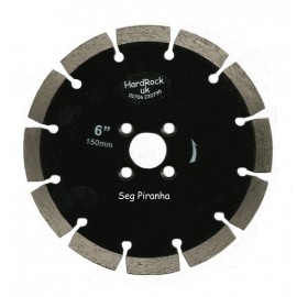 "150D 6"" Key Seg Black Piranha Diamond Blade"
