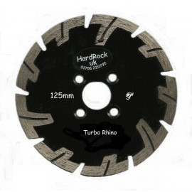 125mm Rhino Black Granite Turbo Diamond Blade with flange holes Diamond Blade Selection Offers , Types, Styles-Diamond Blade Only