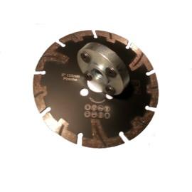 125mm Diablo Negro Granito Piranha Diamond Blade con taladros de la brida