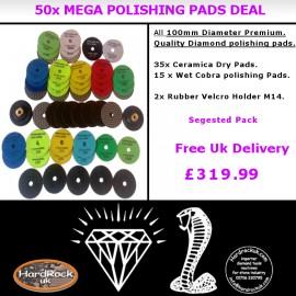 50 Polishing Pads MEGA DEAL (52 items)