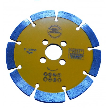 "125D 5"" Key Seg Amber Diamond Cutting Blade"