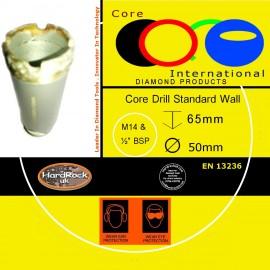 CORE DRILL 50 D STD WALL GRANITE CROWNED