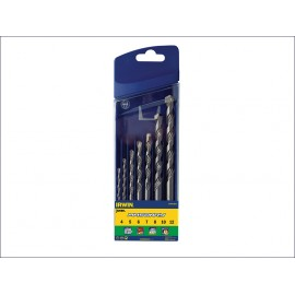 Masonry Drill Bit Set 7 Piece 4-12mm straight shank Tungsten tipped