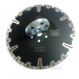 """230 milímetros D 9 """"center & 6x 22 23 orifícios do flange lâmina de diamante preto rinoceronte piranha"""
