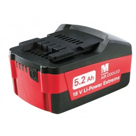 Metabo Slide Battery Pack 18 Volt 5.2Ah Li-Ion
