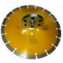 "230mmD 9"" Amber key seg Diamond blade only pre drilled flange holes"