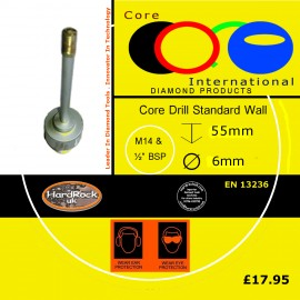 CORE DRILL 6 D STD WALL GRANITE CROWNED