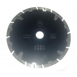 125mm Rhino Black Granite Turbo Diamond Blade with flange holes