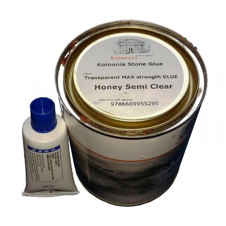 Stone Glue 1ltr Adhesive Polyester Resin & Hardener Tin