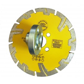 125mm Rhino Amber Stone Concrete Turbo Diamond Blade with flange holes