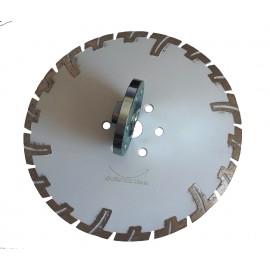 "230mm D 9"" Black Rhino Prianha Diamond Blade 22 23 centre flange holes"