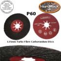 P60 125 Spiral Fibre carborundum Discs BOX of 10