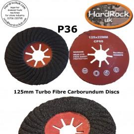 P60 125 Spiral Fibre carborundum Discs BOX x 10