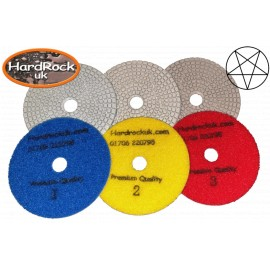 3 étapes Quartz mouillé / Dry Diamond Polishing Pads ensemble complet 3-100D