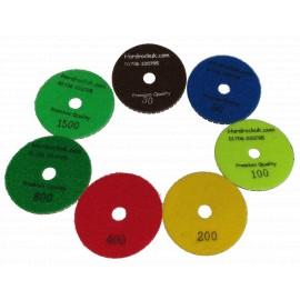 Set of 7 mixed # Grit Diamond polishing pads COBRA-7# Mixed