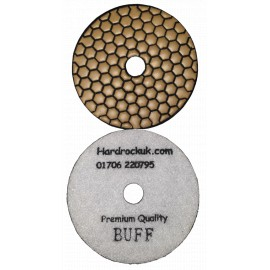 Dry Ceramica Diamond Polishing pads White Buff Grit Only