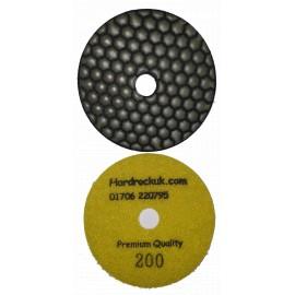 Dry Ceramica diamant tampons de polissage 200 Grit Seulement