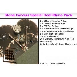 Sand stone carvers Turbo Rhino blades Pack 12 items