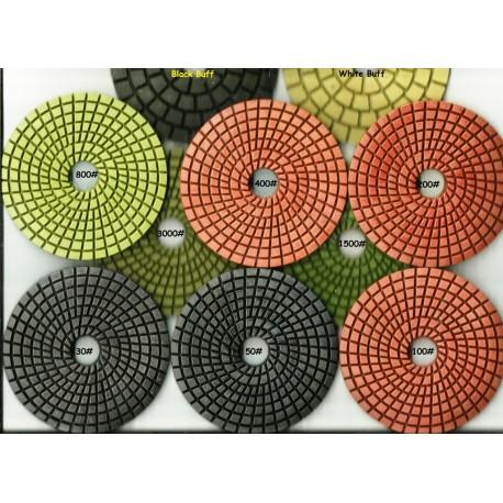wet Cobra Diamond polishing Pads full set of 10