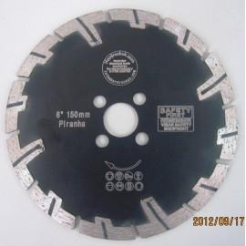 150mm D Devil Prianha Diamond Blade 22 23 centre fange holes