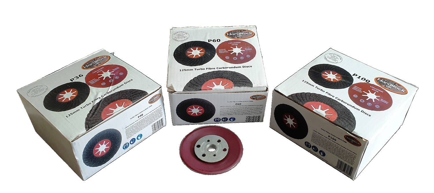 All grits carborundum sanding discs