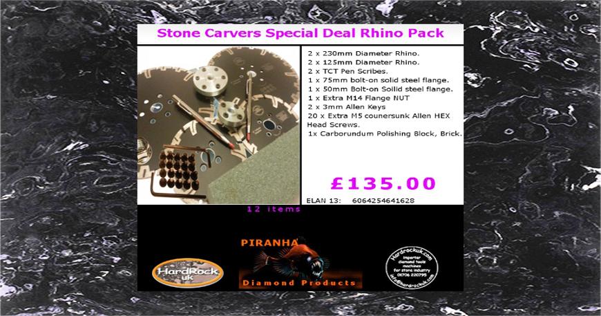 Talladores de piedra de arena Rhino Paquete 12 artículos