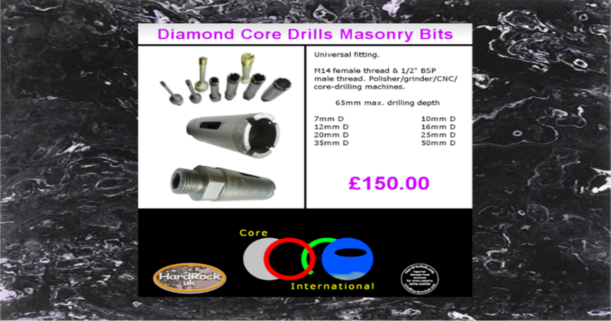 Better Designed Crowned Diamond Core Drills